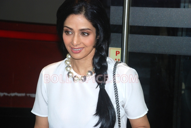 12aug sridevi englishvinglishlaunch03 Sridevi celebrates her birthday with the trailer launch of her movie English Vinglish