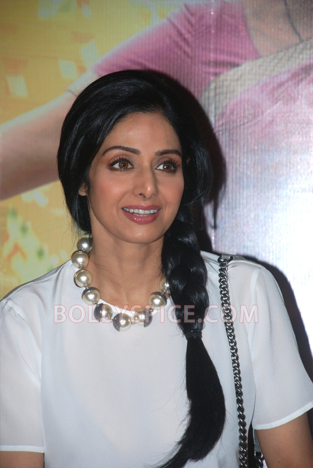 12aug sridevi englishvinglishlaunch04 Sridevi celebrates her birthday with the trailer launch of her movie English Vinglish
