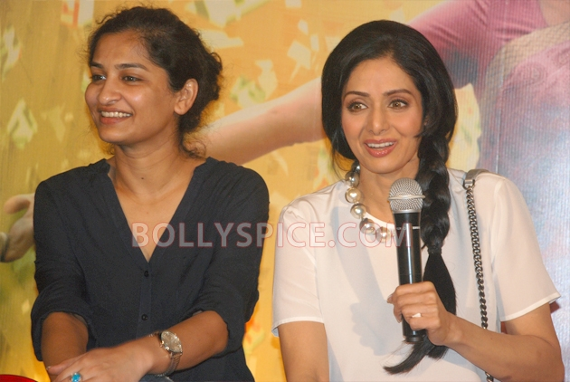 12aug sridevi englishvinglishlaunch08 Sridevi celebrates her birthday with the trailer launch of her movie English Vinglish