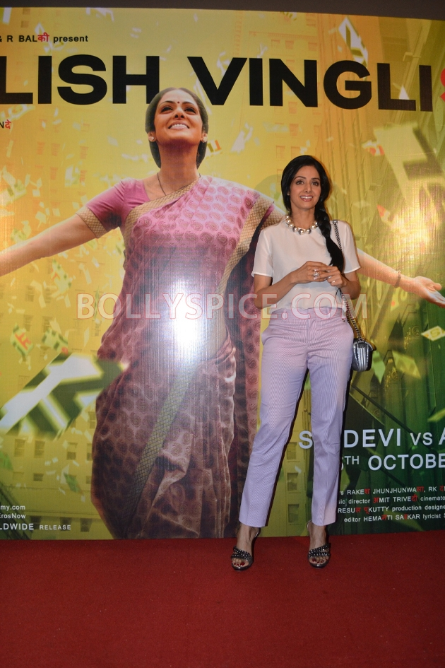 12aug sridevi englishvinglishlaunch16 Sridevi celebrates her birthday with the trailer launch of her movie English Vinglish