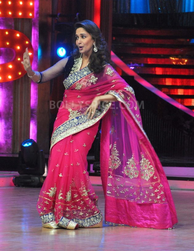 12sep Madhuri Sridevi Jhalak04 Chandni meets Dhak Dhak girl on the sets of Jhalak Dhikhla Jaa