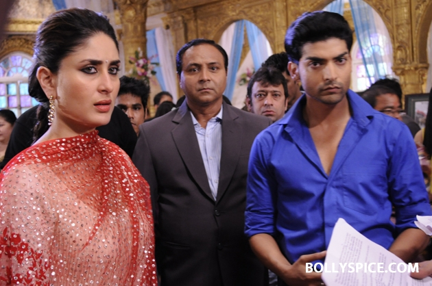 12sep kareena punarvivah06 Kareena Kapoor on sets of Punar Vivah
