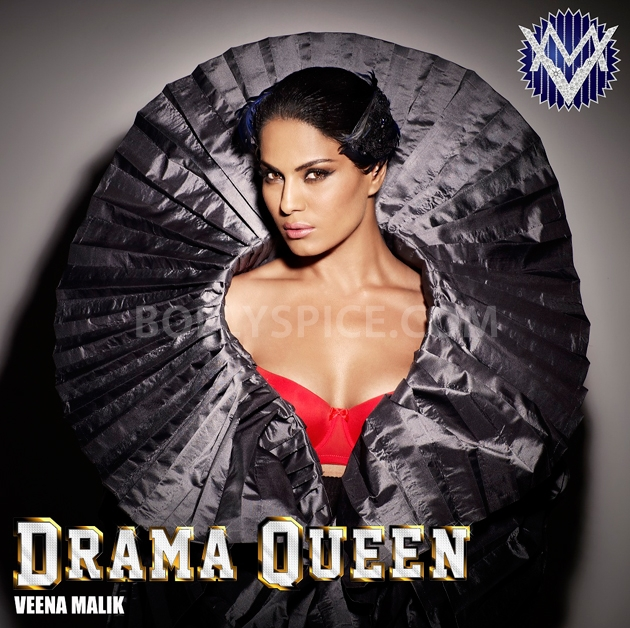 12sep veena malik drama queen Veena Malik releases her first look for her single Drama Queen