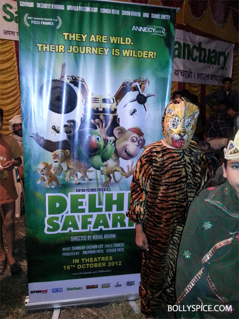 10oct delhisafari 02 Delhi Safari's special screening at the Ranthambore National Park for 1000 school kids