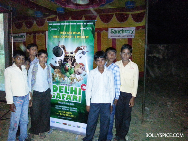 10oct delhisafari 04 Delhi Safari's special screening at the Ranthambore National Park for 1000 school kids