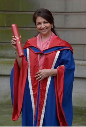 10oct sharmila Sharmila Tagore is bestowed with an Honorary Doctorate