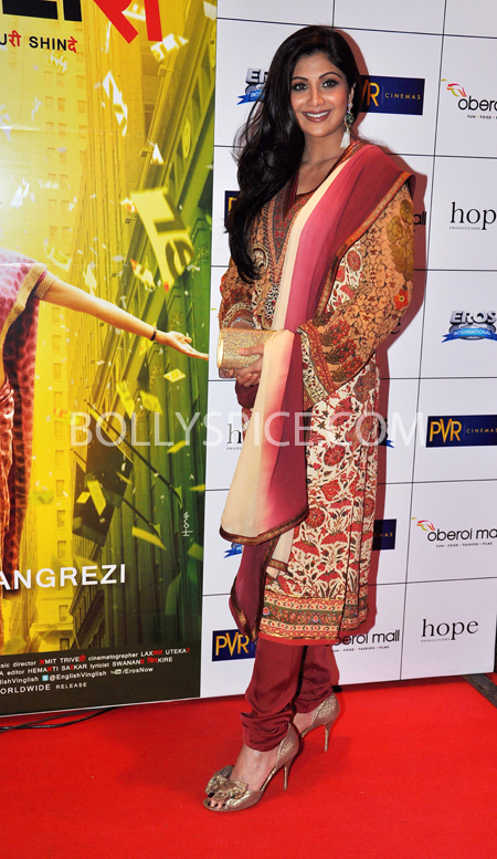 10oct whwnev shilpa Who's Hot Who's Not – English Vinglish Premiere