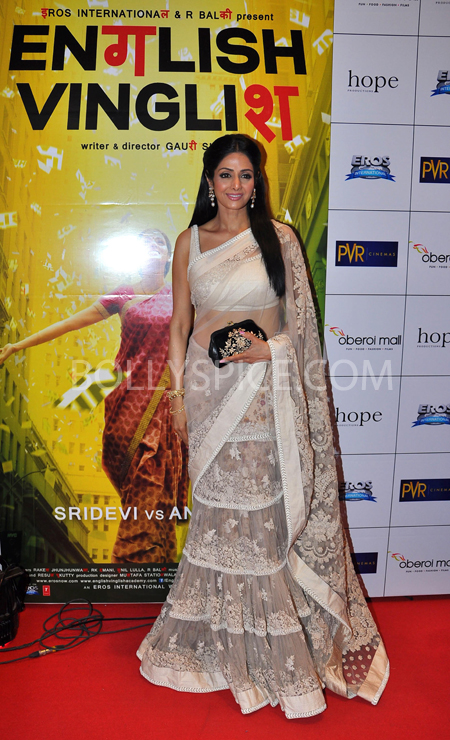 10oct whwnev sridevi Who's Hot Who's Not – English Vinglish Premiere