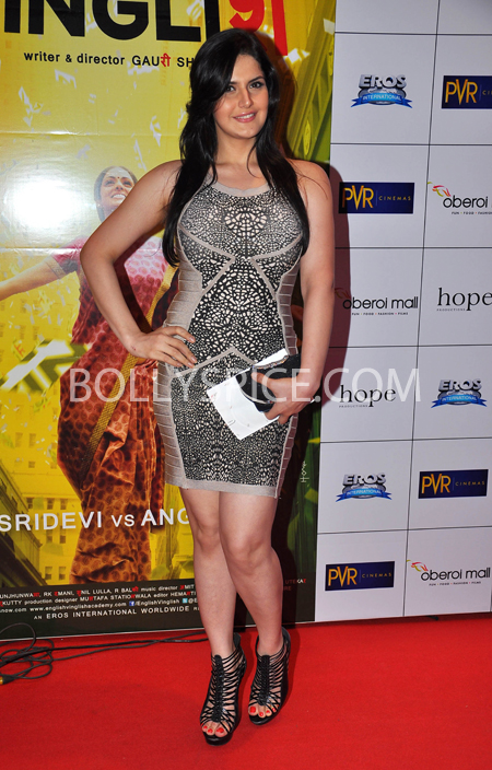 10oct whwnev zarine Who's Hot Who's Not – English Vinglish Premiere