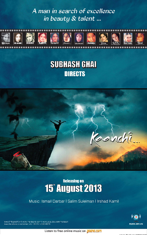 15BT KAANCHI First Look: Subhash Ghais New Film Kaanchi