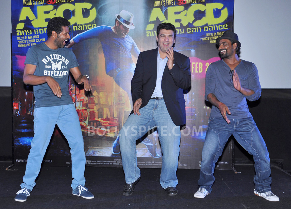 12nov ABCDtrailerlaunch07 IN PHOTOS AND VIDEO: ABCD (Any Body Can Dance) Trailer Launch with Prabhudeva and Remo showing their moves!