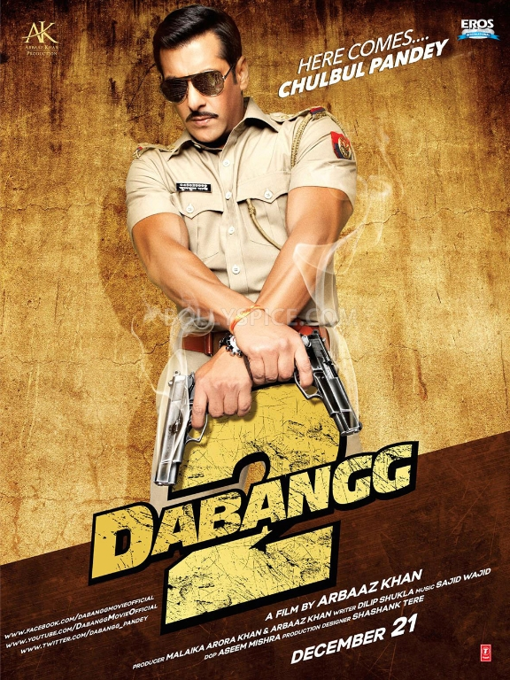12nov Dabangg2 poster Check out Chulbul Pandey in Dabangg 2!