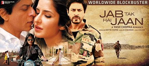 12nov JTHJ 122crores Jab Tak Hai Jaan a worldwide blockbuster collects ₹ 122 crores in 6 days