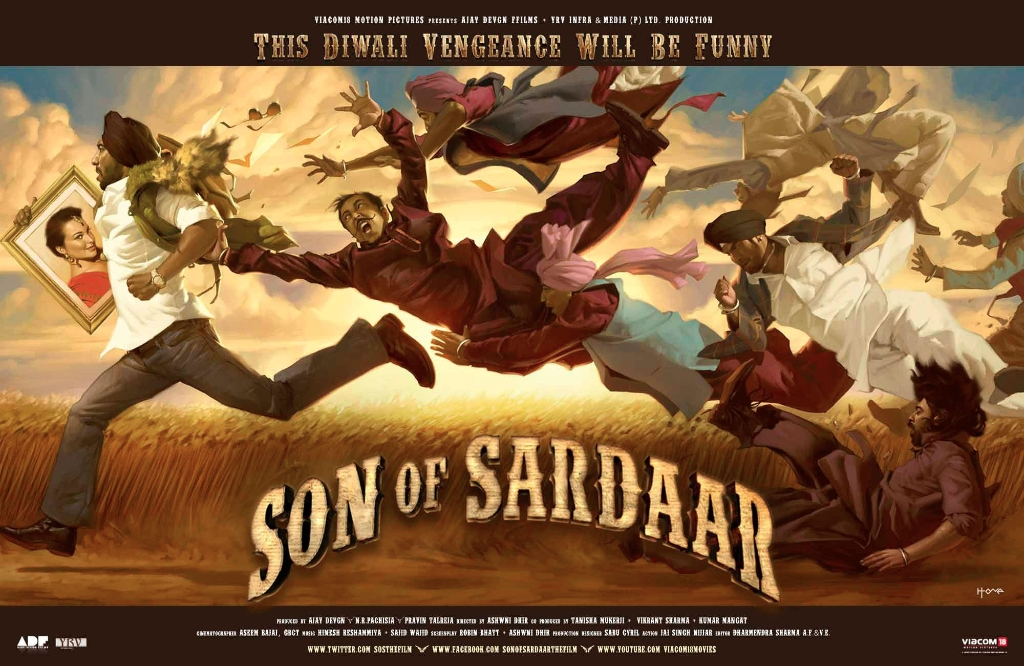 12nov SOS JhaReview Son Of Sardaar is a rollicking rumbustious wild and wacky action comedy   Subhash K Jha