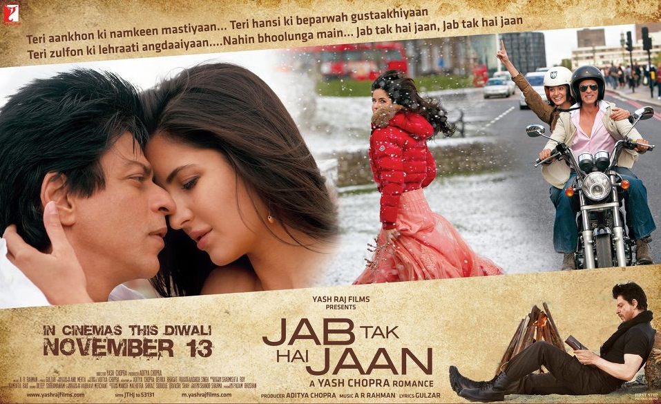 jthj review01 Jab Tak Hai Jaan Movie Review