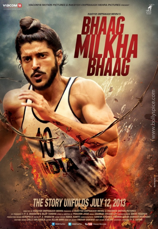 12dec BhaagMilkhaBhaag 1stPoster01 Farhan gets a new look in Bhaag Milkha Bhaag!