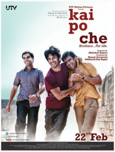 12dec KaiPoChe 1stLookPoster 226x300 Kai Po Che Music Review