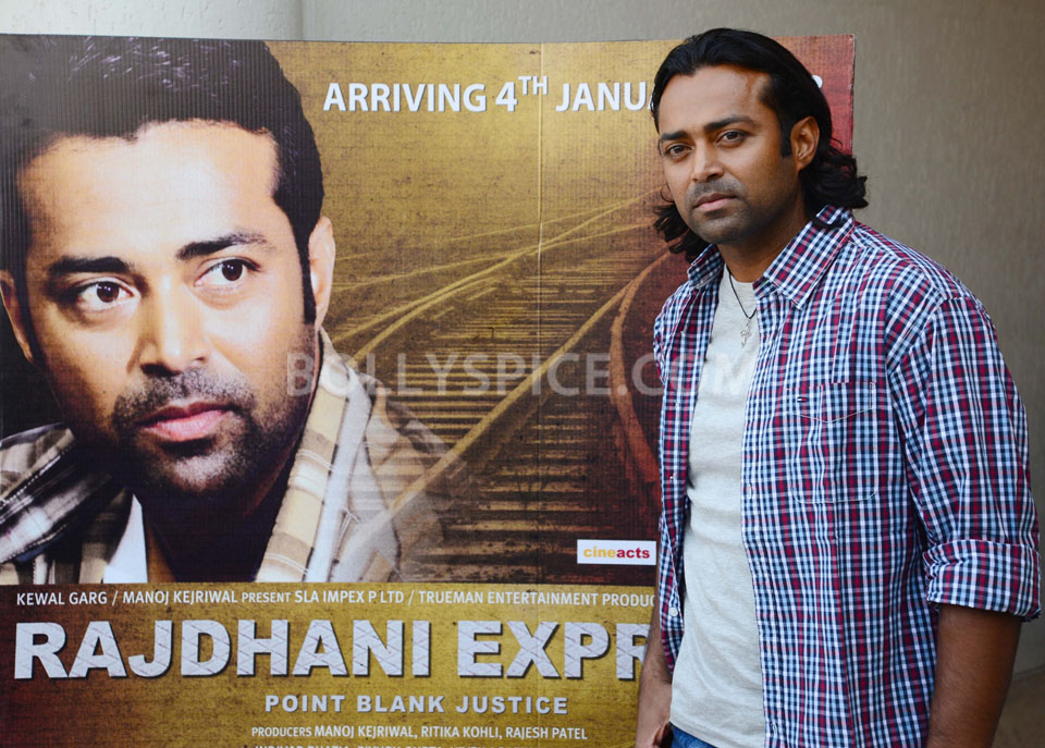 12dec MusicLaunch RajdhaniExpress03 Leander Paes & Puja Bose launche the Music of their debut film Rajdhani Express Point Blank Justice