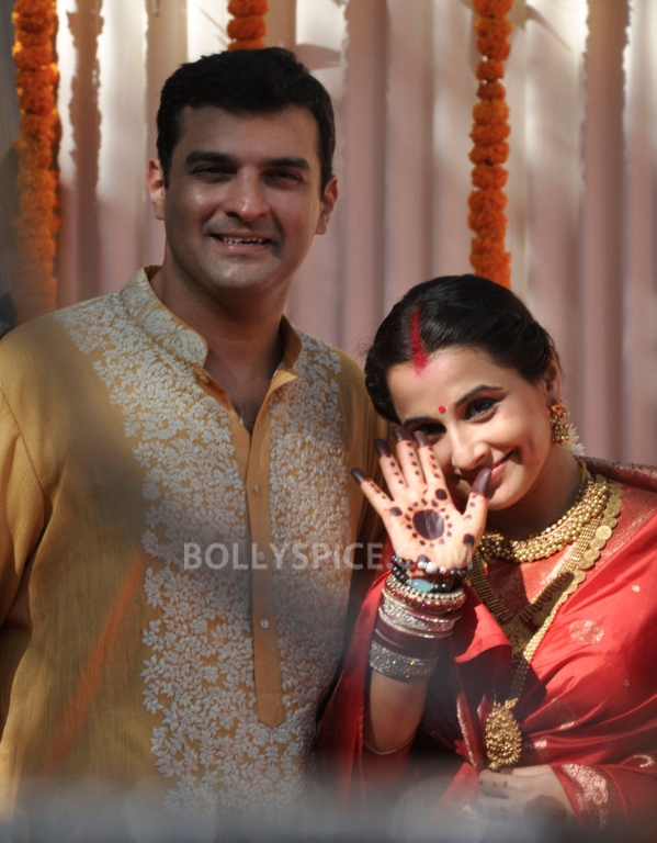 12dec Vidya Siddharth Wedding01 IN PHOTOS: Vidya Balan gets hitched!