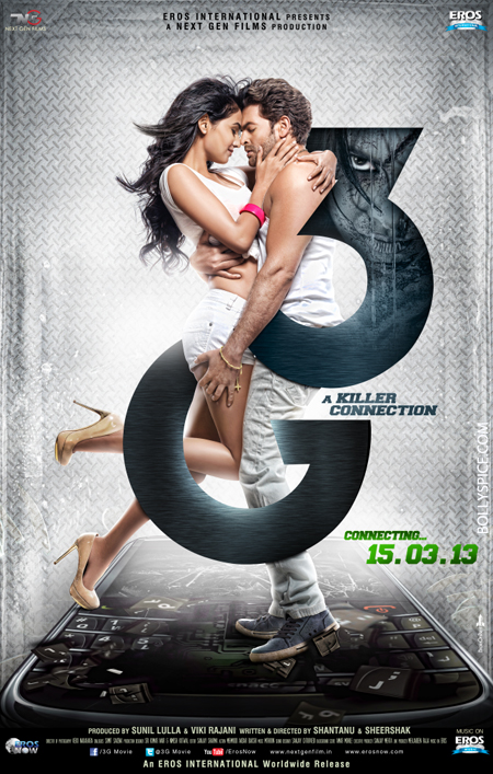 13jan 3gposter Neil Nitin Mukesh and Sonal Chauhan sizzle in the new 3G Poster