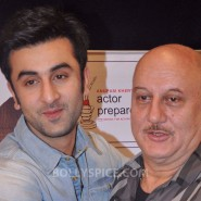 13jan AnupamKher RanbirKapoor21 185x185 In Pictures and Video: Anupam Kher interviews Ranbir Kapoor