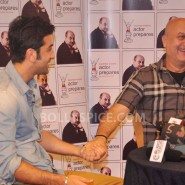 13jan AnupamKher RanbirKapoor28 185x185 In Pictures and Video: Anupam Kher interviews Ranbir Kapoor