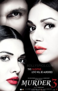 13jan Murder3 poster 192x300 Audience and Distributors give a thumbs up to Murder 3, Collects 13.31 Cr in Opening Weekend