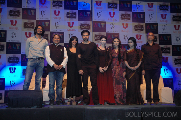13jan ekthidaayanlaunch 05 Emraan Hashmi and his leading ladies at the unique Ek Thi Daayan launch