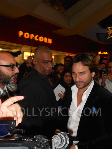 13jan saiffeltham 14 Saif Ali Khan showers love to all his fans at the Race 2 promotional event in London