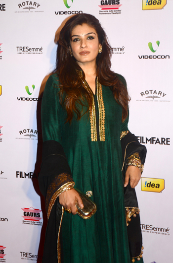 13jan whwnffnom raveena Whos Hot Whos Not   58th Filmfare Awards Nominations Bash