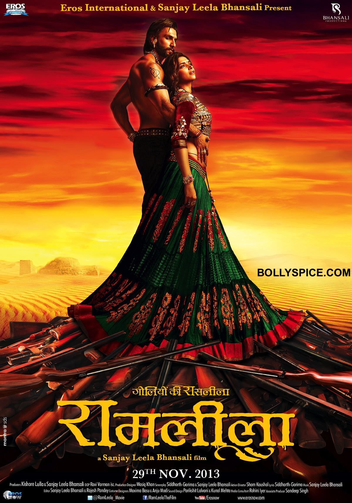 Poster 01 8x12 1 First look of Ranveer and Deepika in Ram Leela!