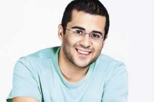 "13feb Chetan Bhagat01 300x200 ""I want to reach out to and influence Indians""   Chetan Bhagat on Kai Po Che"