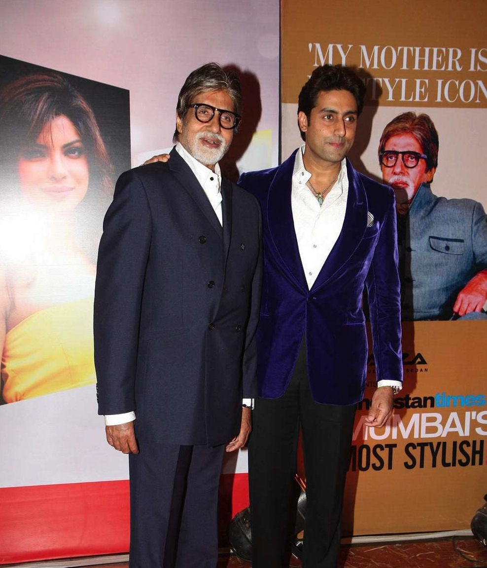 Amitabh and Abhishek Bachchan HT Mumbais Most Stylish 2013 Awards 09 HT Mumbai's Most Stylish Awards