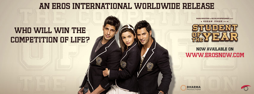 Eros Now Eros Now treats its international audiences with 'Student Of The Year'