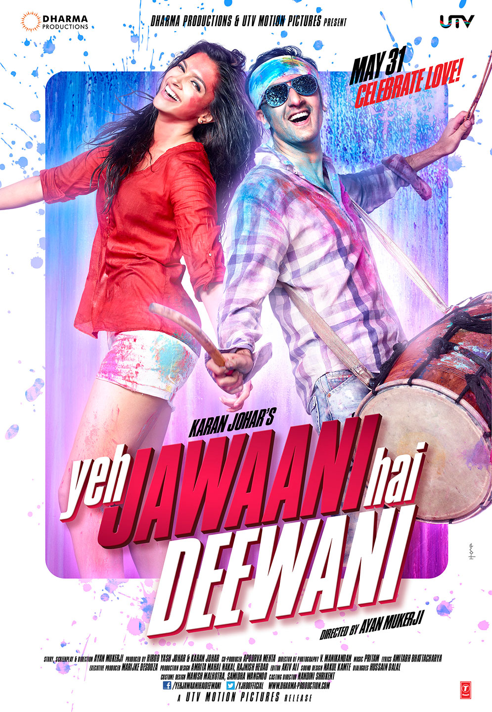 Poster 2 First Look: Deepika with Ranbir in Yeh Jawaani Hai Deewani x2!