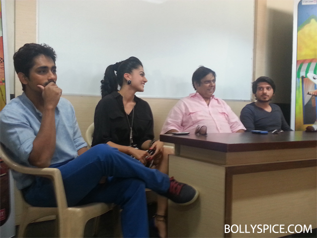 13mar chasme 01 Chashme Baddoor visits suburban college to wish students 'All The Best'