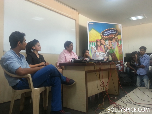 13mar chasme 04 Chashme Baddoor visits suburban college to wish students 'All The Best'