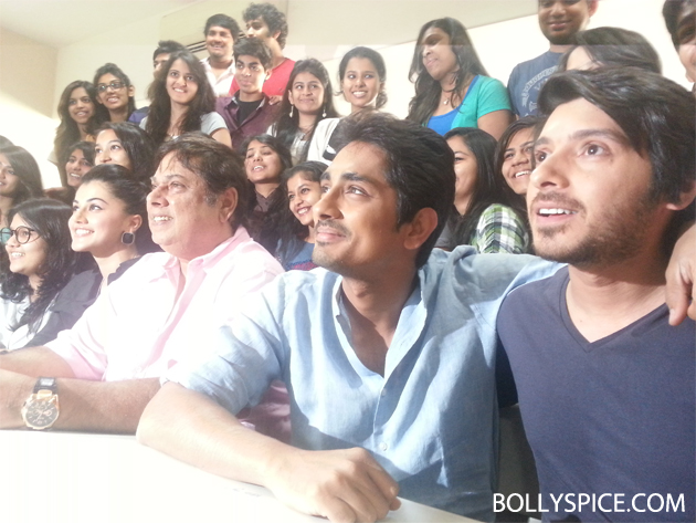 13mar chasme 06 Chashme Baddoor visits suburban college to wish students 'All The Best'