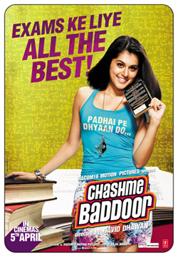 13mar chasmeposter Chashme Baddoor releases Taapsee Pannu's 'All The Best' poster