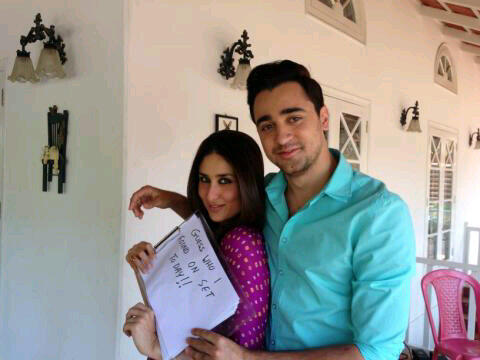 Kareena On Set for Gori Tere Pyaar Mein