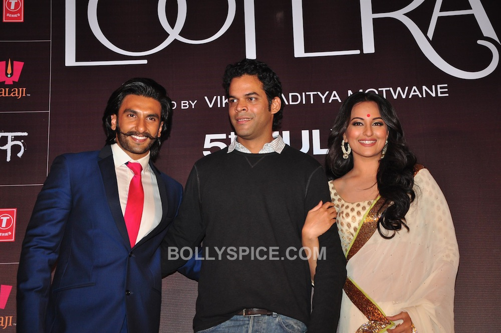 lootera07 In Pictures: Ranveer and Sonakshi at Looteras Trailer Launch!