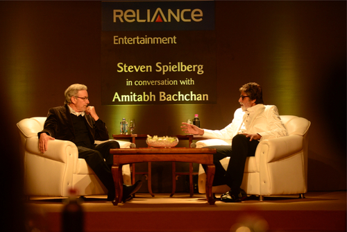 spielberginmumbai02 Steven Spielberg in Mumbai talks his upcoming film and more!
