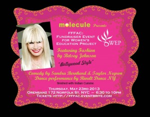 "13apr Betsey BollywoodFashion 300x235 Fashion Designer Betsey Johnson Goes 'Bollywood"" for a cause!"