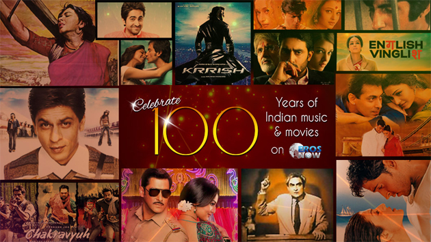 13apr eros100 Celebrating 100 years of Movies and Music with Eros Now