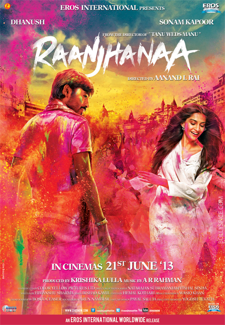13apr raanjhanaaposter 01 A look at Raanjhanaa