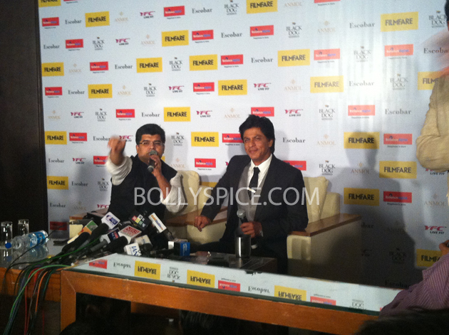 13apr srkfflaunch 05 Shah Rukh Khan launches collector's edition of Filmfare to mark 100 years of Indian Cinema