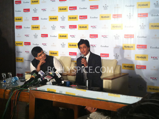 13apr srkfflaunch 07 Shah Rukh Khan launches collector's edition of Filmfare to mark 100 years of Indian Cinema