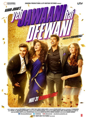 13apr yjhdmusic Yeh Jawaani Hai Deewani is the sixth highest grossing Hindi film overseas of all time!