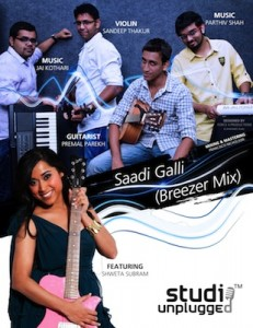 Saadi Galli Aaja Breezer Mix Studiounplugged ft. Shweta Subram Sandeep Thakur 231x300 Saadi Galli Aaja (Breezer Mix)   Studiounplugged ft. Shweta Subram, Sandeep Thakur