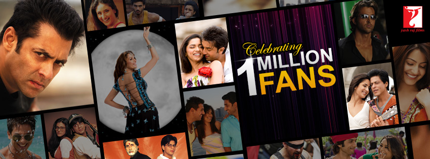 YRF 1millionFans fb Yash Raj Films Celebrates a Million Fans on Facebook
